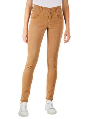 Angels Skinny Button Jeans dark camel used