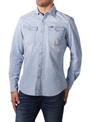 G-Star 3301 Slim Shirt 7 oz Denim light aged