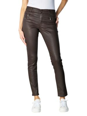 Angels Malu Zip Jeans Slijm dark chocolate