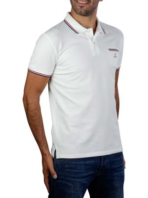 Gant 3-Col Tipping Pique SS Rugger eggshell