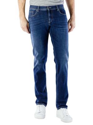 Alberto Pipe Jeans Slim Bi Stretch Denim navy