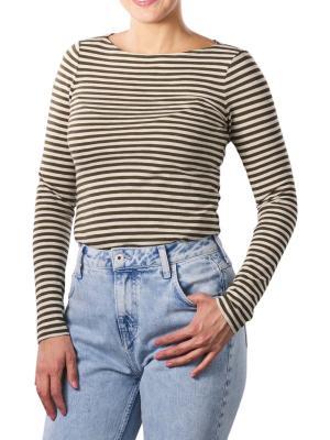 Marc O'Polo T-Shirt Longsleeve Boat Neck striped