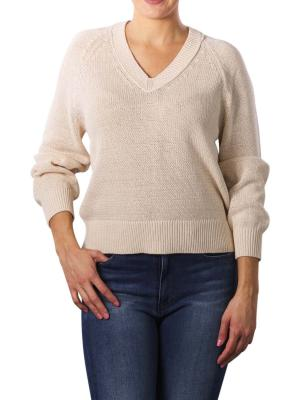 Marc O'Polo Pullover Longsleeve V-Neck natural raw