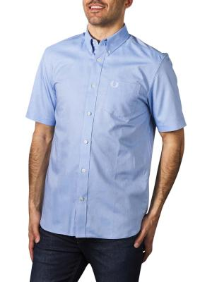 Fred Perry Short Sleeve Oxford light smoke