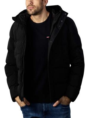 Tommy Hilfiger Hooded Stretch Bomber Hoodie black