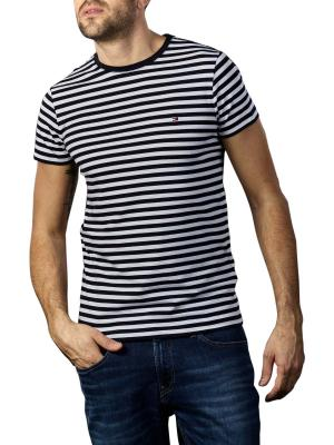 Tommy Hilfiger Stretch T-Shirt Slim Fit desert sky white