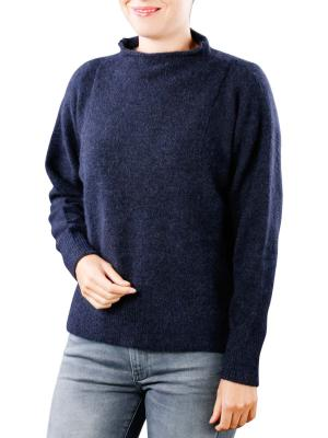 Yaya Batwing Sweater With Fancy Sleeve Insert antracite blue