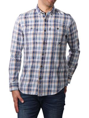 PME Legend Long Sleeve Shirt Denim Check 590