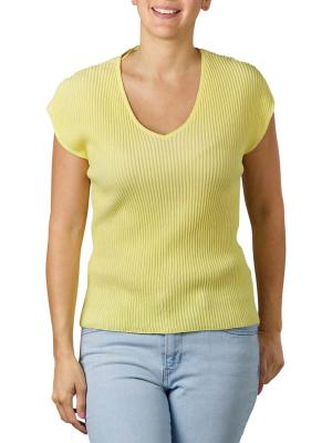 Yaya Rib Sweater Cap Sleeve lemon