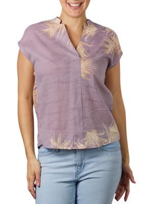 Yaya Printed V-Neck Top lilac dessin