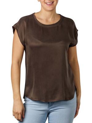 Yaya Fabric Mix T-Shirt turkish coffee