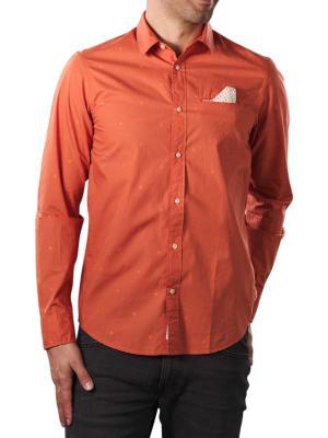 Scotch & Soda Fil à Fil Shirt Regular red