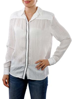 Yaya Blouse Jacquard Stripe off white