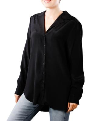 Yaya Long Blouse Shiny black
