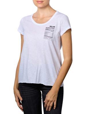 Set T-Shirt Pocket Print Round Neck bright white