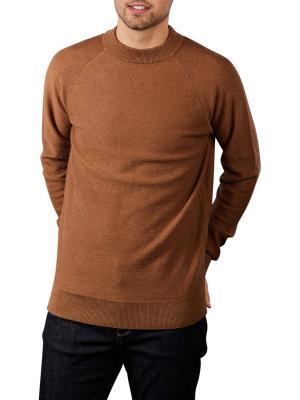 Scotch & Soda Strukture Knit Pullover Raglan brown
