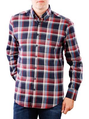 Fynch-Hatton Shirt Flannel Fond Check navy