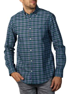 Gant D1 TP Oxford Indigo Check Reg BD Shirt ivy green