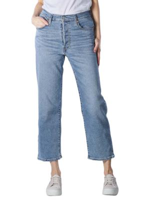 Levi's Ribcage Jeans Straight Fit Ankle worn out