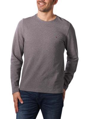 Tommy Hilfiger Waffle Long Sleeve T-Shirt dark grey heather