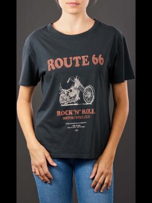 Set Printed T- Shirt black