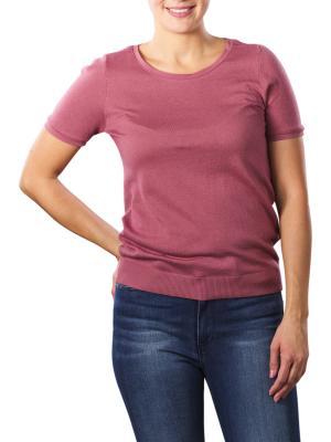 Yaya Mesh Binding T-Shirt deco rose