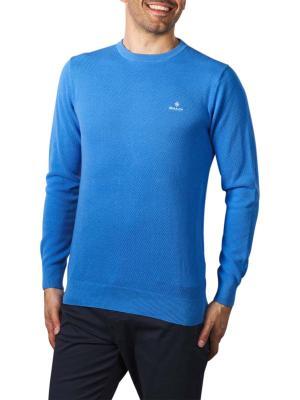 Gant Cotton Pique C-Neck pacific blue