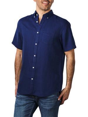 Gant Reg Linen Shirt SS BD navy