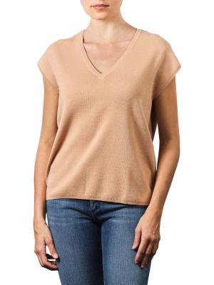 Yaya V-Neck Sweater With Buttons faded rose
