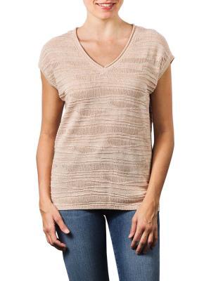 Yaya Twisted Textured Sweater pale peach dessin