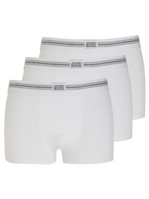 Jockey 3-Pack Cotton Stretch Short Trunk white