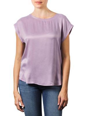Yaya Cupro Blend Fabric Top lilac