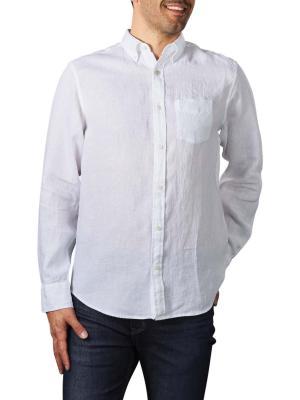 Gant Reg Linen Shirt BD white