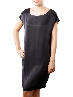 Yaya Dress Cupro W Strap black