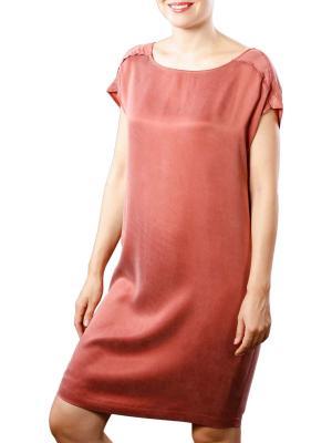 Yaya Dress Cupro W Strap wooden red