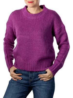 Maison Scotch Soft Knitted Crewneck Pullover dark violet