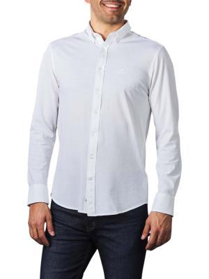 Gant TP Pique Solid Reg BD Shirt white