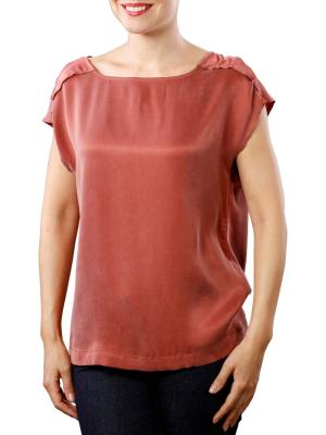 Yaya Woven Top Cupro W Strap wooden red
