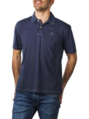 Gant Sunfaded Jersey SS Rugger Polo deep ocean