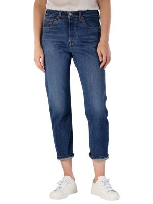 Levi's 501 Cropped Jeans Straight Fit Charleston High