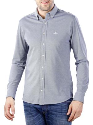 Gant TP Pique Solid Reg BD Shirt persian blue