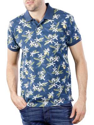 Gant Lemon Flower Print SS Pique insignia blue