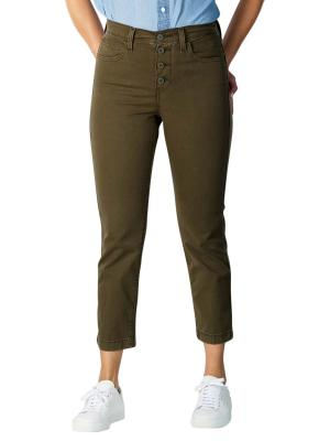 Levi's 724 High Rise Straight Jeans crop utility soft canvas