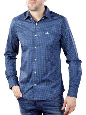 Gant TP BC Micro Print Slim HBD Shirt persian blue