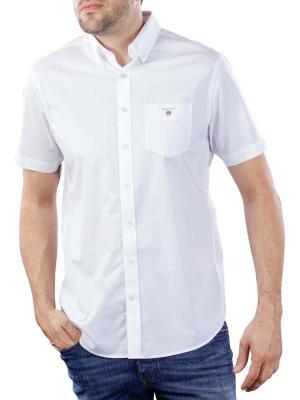 Gant The Broadcloth Reg SS BD Shirt white