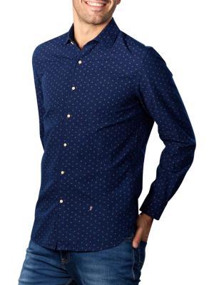 Pepe Jeans Tedworth Micro Print Shirt indigo