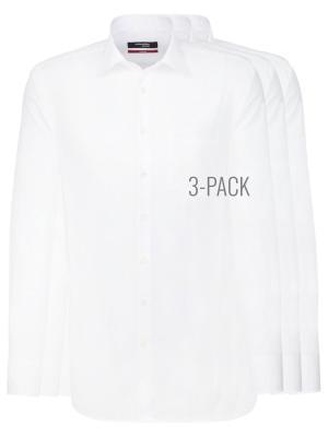 Seidensticker 3-Pack Regular Fit Kent Bügelfrei white