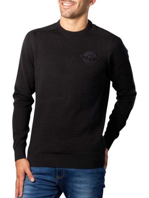 PME Legend Crewneck Cotton Plated Sweater meteorite