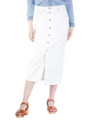 Levi's Button Front Midi Skirt white cell