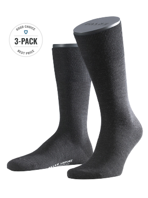 Falke 3-Pack Airport anthracite